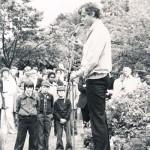 Simon Williams opening Church Fete