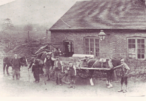 Early photo of East Meon Smithy