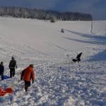 Snow sports at Mascombe Bottom