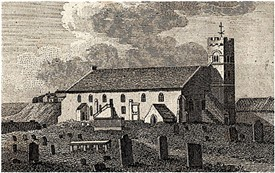 St Peter's Church, Monkwearmouth, where James Pink of Hampshire was married to Margaret Charlton in 1836