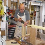 Steve cutting dovetails