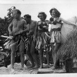 The Berry family dressed as south sea islanders.