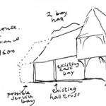 Recreation of the original Hall House, c1333