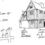 Tudor House, Roberts sketch c1600