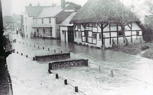 White House and High Street flooded