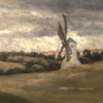 Detail from painting - the windmill