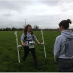 Younger members of the team undertaking magnetometry at Shavards Farm